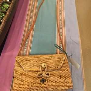 NEW WITH TAG WOVEN MAILER PURSE